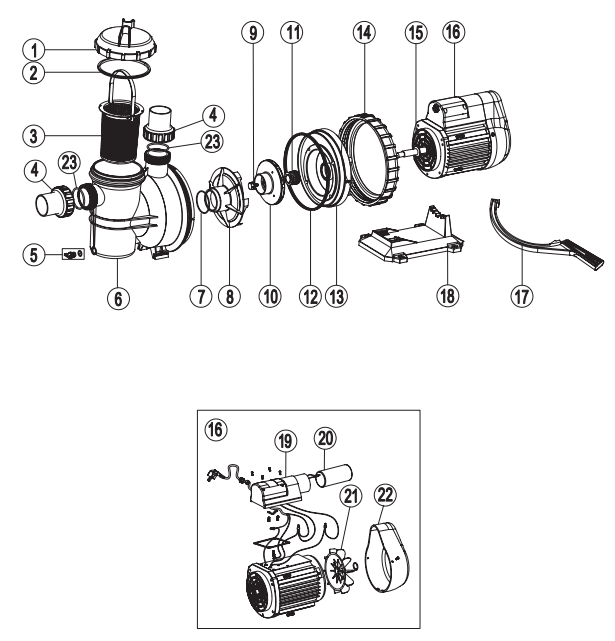 zodiac titan zts pump spare parts  parts and prices